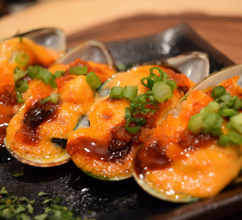 1.Baked Green Mussel