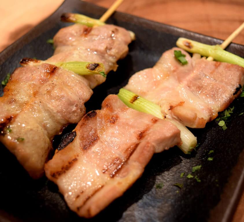 6.Pork Belly Yakitori