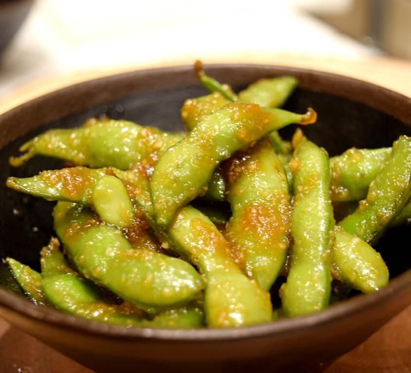 8.Spicy Garlic Edamame